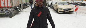 Mann Berlin Schnee